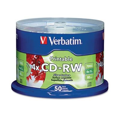 Picture of Verbatim CD-RW DataLifePlus Printable Rewritable Disc