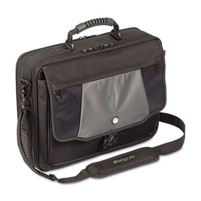 "Picture of Targus Blacktop 17"" Deluxe Laptop Case, Polyester, 18-1/2 x 5-1/2 x 16-1/4, Black"