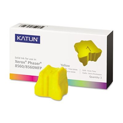 Picture of KATUN KAT37993 Phaser 8560 Compatible, 108R00725 Solid Ink, 3400 Yld, 3/Box, Yellow