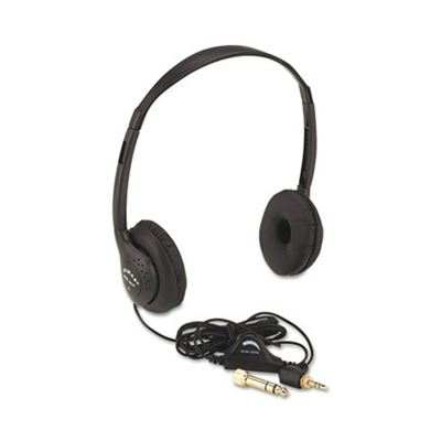 Picture of AmpliVox Personal Multimedia Stereo Headphones with Volume Control, Black