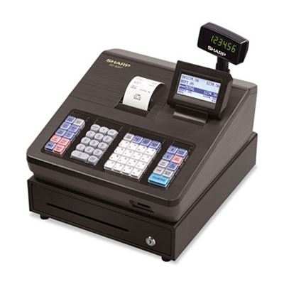 Picture of SHARP XE Series Electronic Cash Register, Thermal Printer, 2500 Lookup, 25 Clerks, LCD