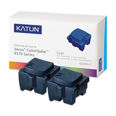 Picture of KATUN KAT39395 ColorQube 8570 Compatible, 108R00926 Solid Ink, 4400 Yld, 2/Box, Cyan