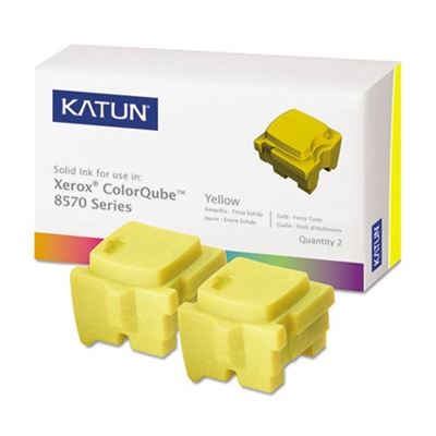 Picture of KATUN KAT39399 ColorQube 8570 Compatible, 108R00928 Solid Ink, 4400 Yld, 2/Box, Yellow