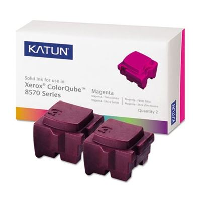 Picture of KATUN KAT39397 ColorQube 8570 Compatible, 108R00927 Solid Ink, 4400 Yld, 2/Bx, Magenta