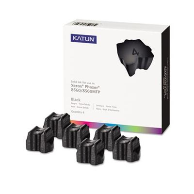 Picture of KATUN KAT39393 Phaser 8500 Compatible, 108R00727 Solid Ink, 6800 Yld, 6/Box, Black