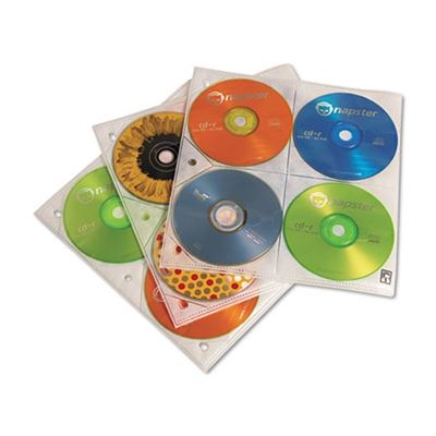 Picture of Case Logic Two-Sided CD Storage Sleeves for Ring Binder, 25/Pack