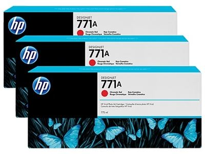 Picture of HP 771 3-Pack Cartridges for Designjet Z6200- Chromatic Red