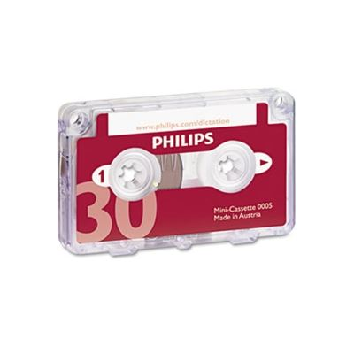 Picture of Philips Audio & Dictation Mini Cassette, 30 Minutes (15 x 2), 10/Pack