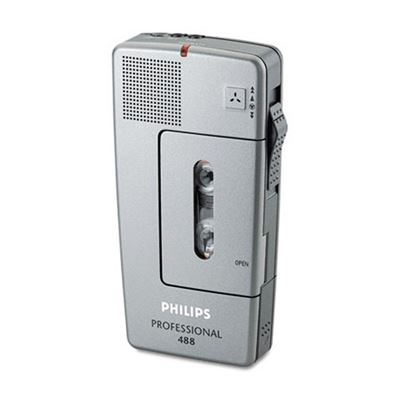 Picture of Philips Pocket Memo 488 Slide Switch Mini Cassette Dictation Recorder