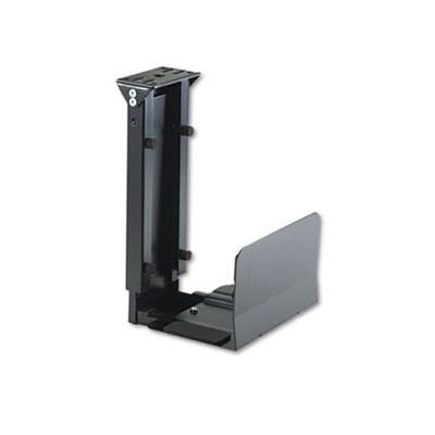 Picture of SAFCO Ergo-Comfort Fixed-Mount Under Desk CPU Holder, 7w x 9-1/2d x 14h, Black