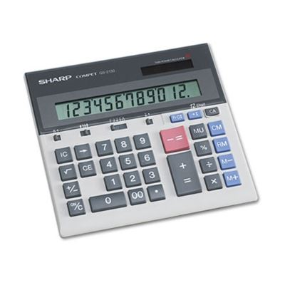 Picture of SHARP QS-2130 Compact Desktop Calculator, 12-Digit LCD