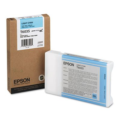 Picture of EPSON 7800/7880/9800/9880 Lt Cyan K3 UltraChrome Ink- 220 mL