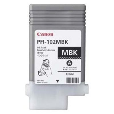 Picture of Canon PFI-102 Ink for imagePROGRAF iPF500/610/710 - Matte Black (130 mL)