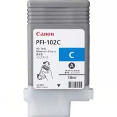 Picture of Canon PFI-102 Ink for imagePROGRAF iPF500/610/700/710 - Cyan (130 mL)