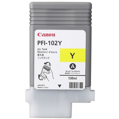 Picture of Canon PFI-102 Ink for imagePROGRAF iPF500/610/700/710 - Yellow (130 mL)