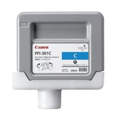 Picture of Canon PFI-301 Ink for imagePROGRAF 9000/8000/9000S/8000S - Cyan (330mL)
