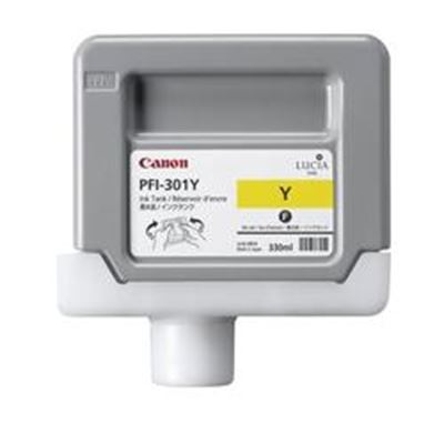 Picture of Canon PFI-301 Ink for imagePROGRAF 9000/8000/9000S/8000S - Yellow (330mL)