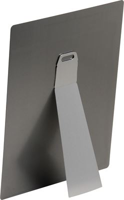 Picture of ChromaLuxe Small Metal Easel for Aluminum Photo Panels Clear - 5.5in x 2in (100-Pack)