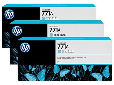 Picture of HP 771 775ml Light Cyan Ink Cartridges, 3 Pk