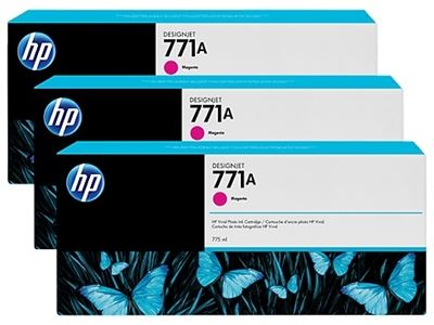 Picture of HP 771 3-Pack Cartridges for Designjet Z6200- Magenta