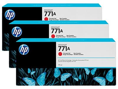 Picture of HP 771 775ml Chromatic Red Ink Cartridges, 3 Pk