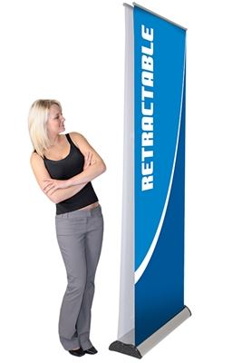 Picture of LexJet Advance Double Sided Banner Stand 31.5in - Silver