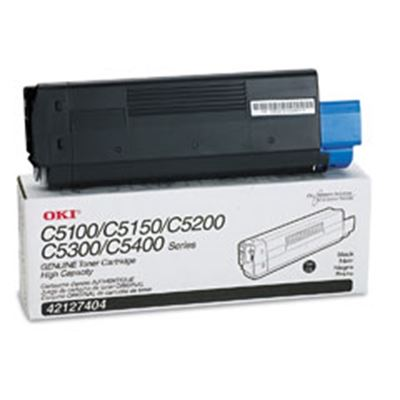 Picture of OKI High-Yield Toner Cartridge for 5100 through 5400 Series- Black