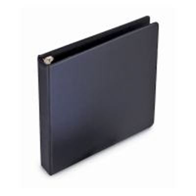 Picture of GBC Black Economy Round Ring Binders- 1 1/2in Ring