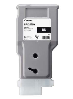 Picture of Canon PFI-207 Ink for imagePROGRAF iPF785/780/685/680 Series - Black (300 mL)