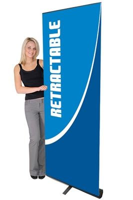 Picture of LexJet Contender Premium Retractable Banner Stand - Black