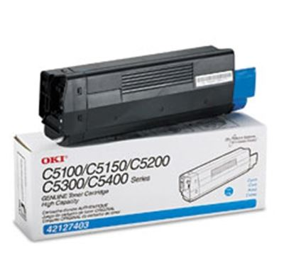 Picture of OKI High-Yield Toner Cartridge for 5100 through 5400 Series- Cyan