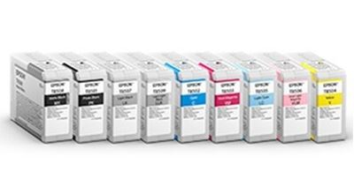 Picture of EPSON UltraChrome HD Ink for SureColor P800 - Cyan (80 mL)