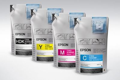 Picture of EPSON UltraChrome DS Ink for SureColor F6200, F7200, and F9200 - Cyan (1000mL, 6 Pk)