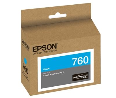 Picture of EPSON 760 UltraChrome HD Ink for SureColor P600 - Cyan (25.9 ml)