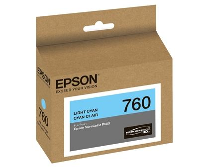 Picture of EPSON 760 UltraChrome HD Ink for SureColor P600 - Light Cyan (25.9 ml)