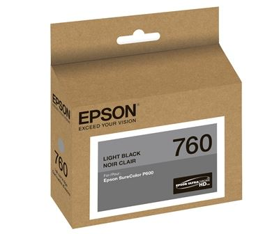 Picture of EPSON 760 UltraChrome HD Ink for SureColor P600 - Light Black (25.9 ml)