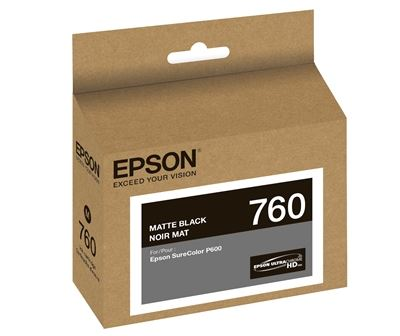 Picture of EPSON 760 UltraChrome HD Ink for SureColor P600 - Matte Black (25.9 ml)