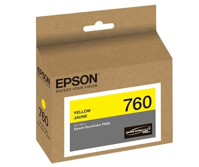 Picture of EPSON 760 UltraChrome HD Ink for SureColor P600 - Yellow (25.9 ml)