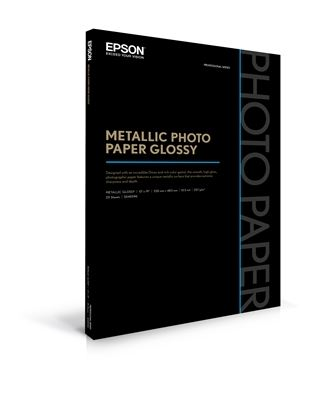 Picture of EPSON Metallic Photo Paper Glossy- 13in x 19in