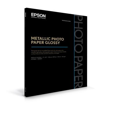 Picture of EPSON Metallic Photo Paper Glossy - 17in x 22in