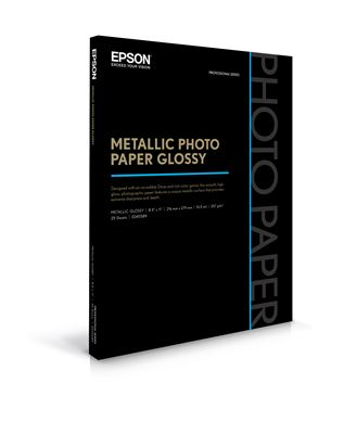 Picture of EPSON Metallic Photo Paper Glossy - 8.5in x 11in