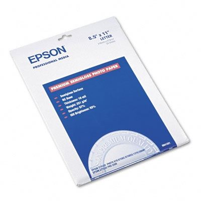 Picture of EPSON Premium Semi-Gloss Photo Paper (250)- 8.5in x 11in