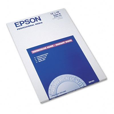 Picture of EPSON Watercolor Paper - Radiant White- 13in x 19in