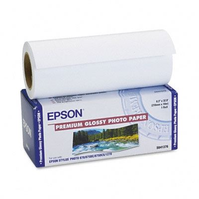 Picture of EPSON Premium Glossy Photo Paper (250)- 8.3in x 32ft