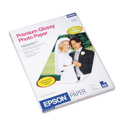 Picture of EPSON Premium Glossy Photo Paper (250)- 8.5in x 11in