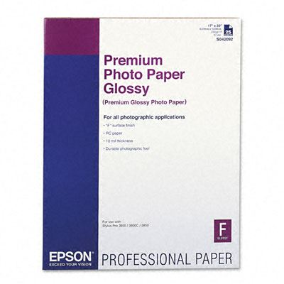 Picture of Epson Premium Photo Paper Glossy - 17in x 22in (25 Sheets)