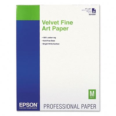 Picture of EPSON Velvet Fine Art Paper - 17in x 22in