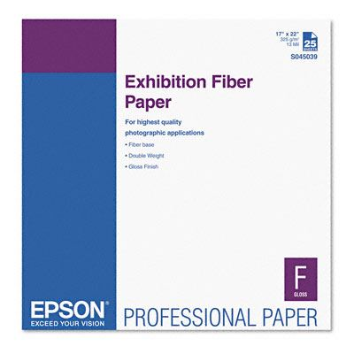 Picture of EPSON Exhibition Fiber Paper- 17in x 22in