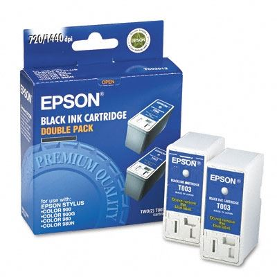 Picture of EPSON Stylus Color 900/980 Black Ink Cartridges