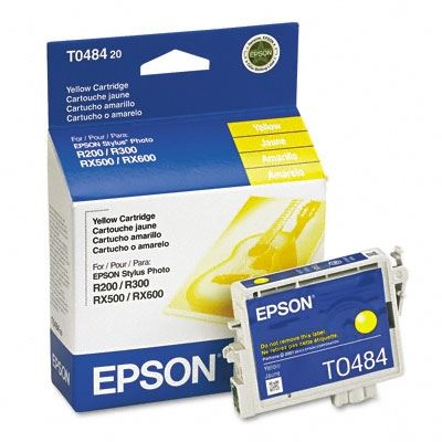 Picture of EPSON Stylus Photo R300/RX500 Yellow Ink Cartridge